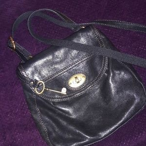 Vintage Leather Saddlebag Fossil Crossbody